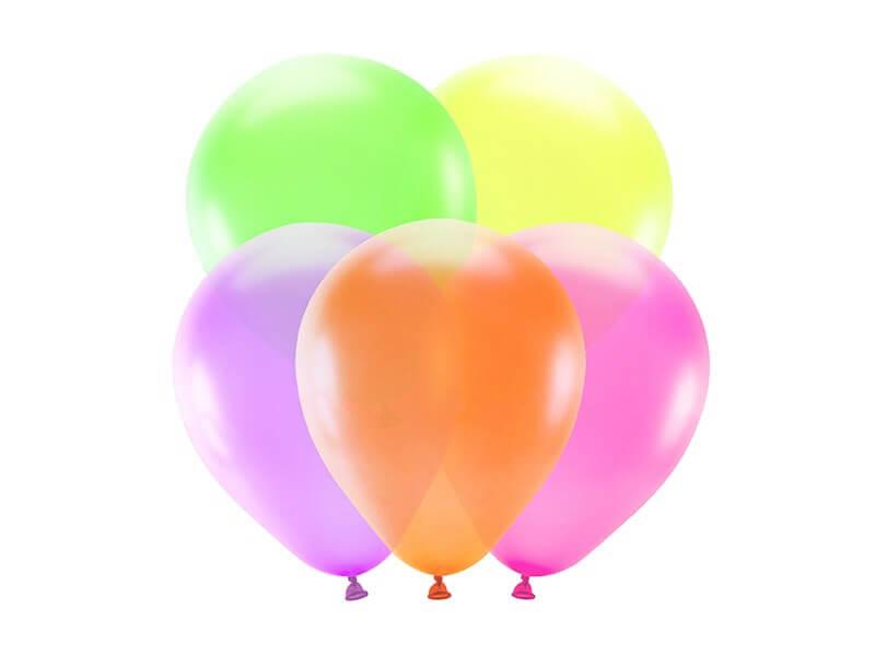 Lot de 5 Ballons Néon Fluos