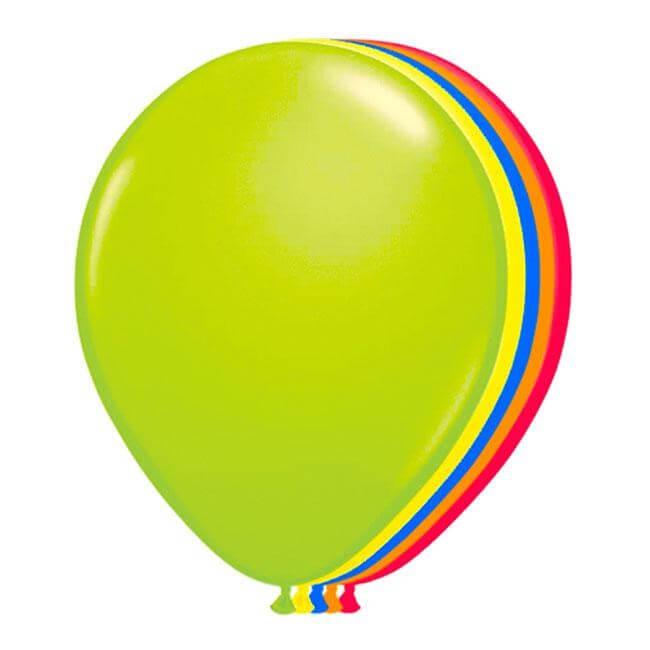 Lot de 10 ballons néon fluorescents multicolores
