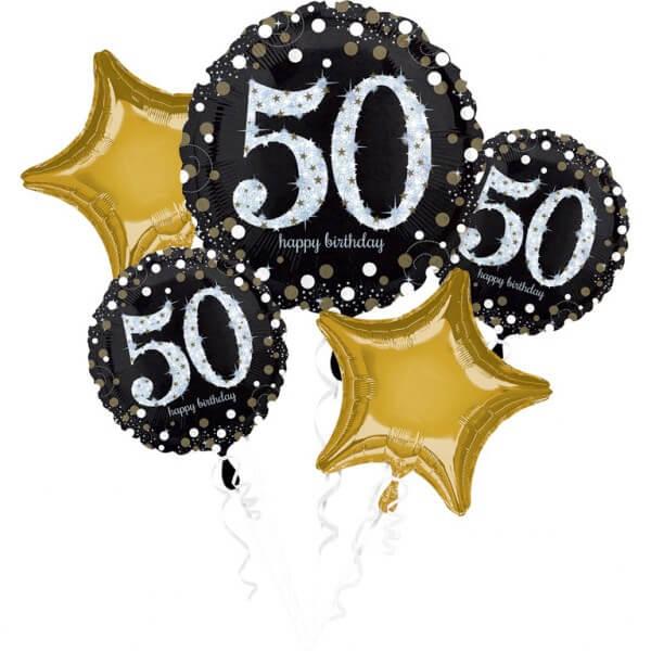 Bouquet de 5 ballons Birthday 50 ans