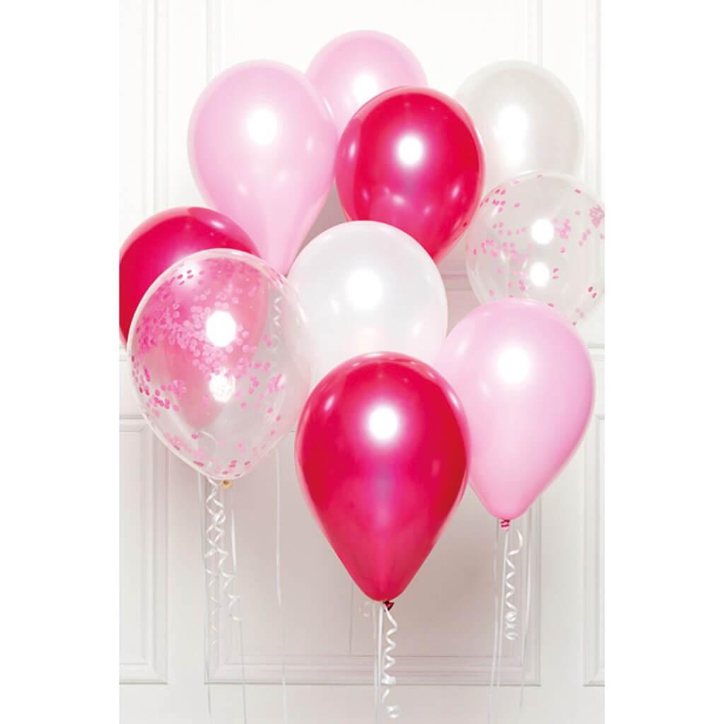 Bouquet de 10 ballons Thème Rose