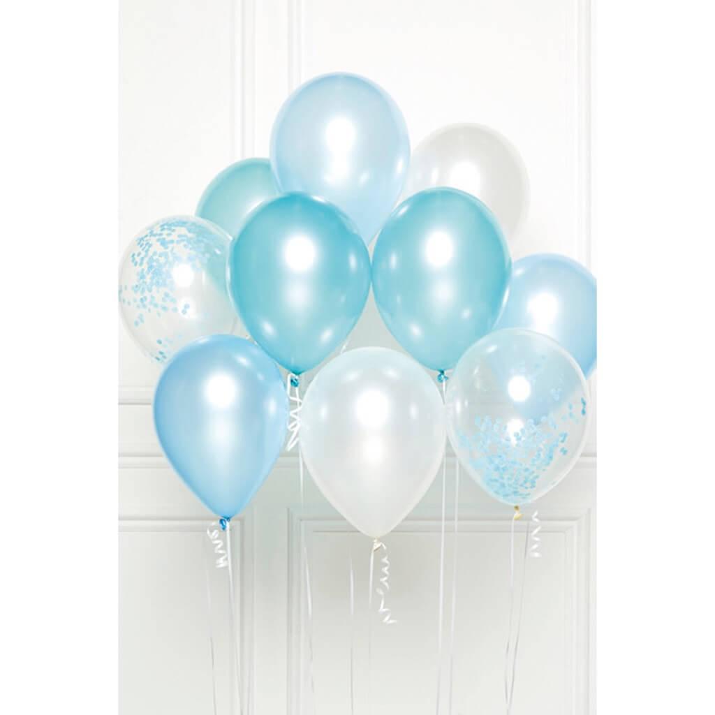 Bouquet de 10 ballons Thème Bleu