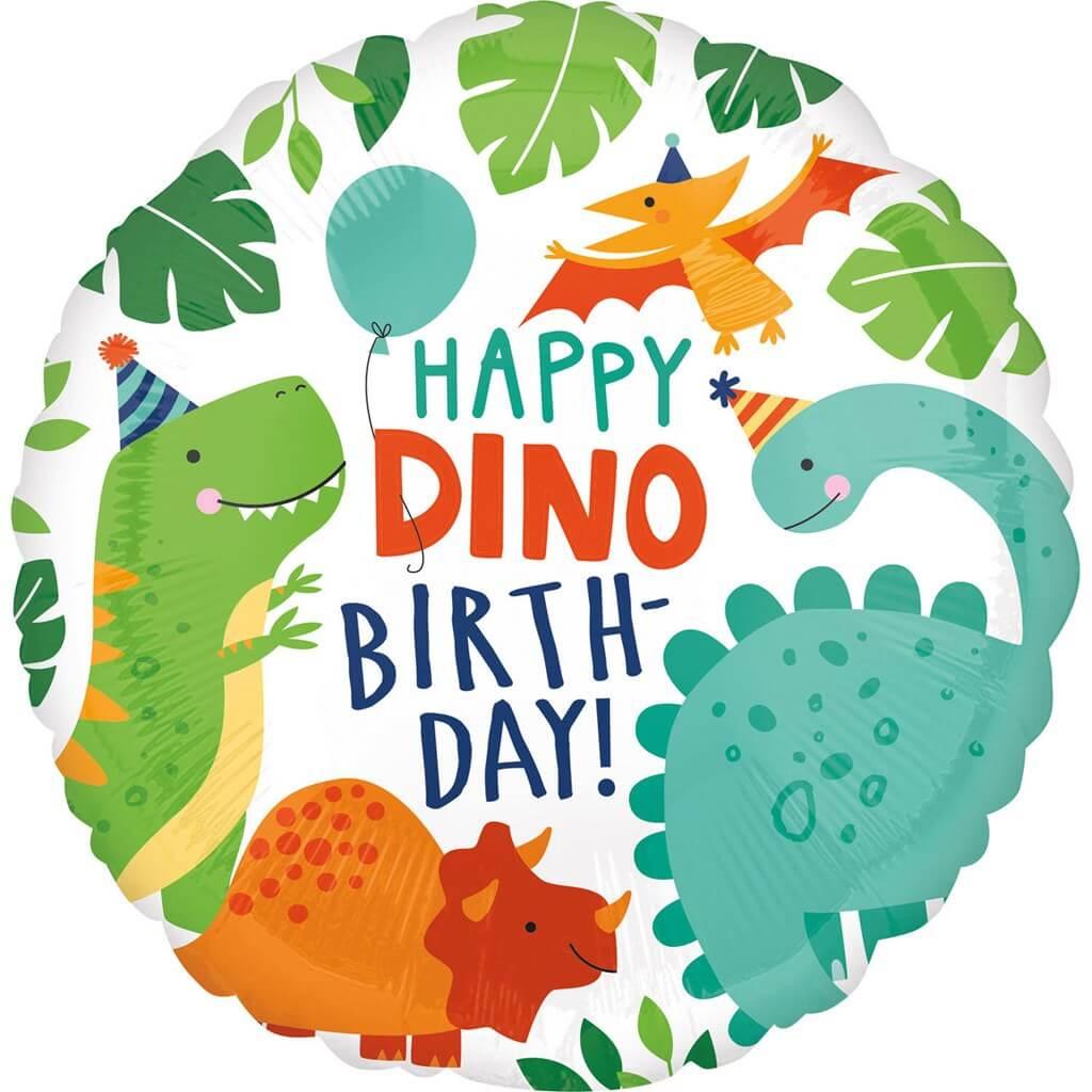 Ballon Dinosaure Happy Birthday