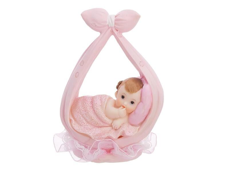 Figurine Baby Girl rose dans un foulard