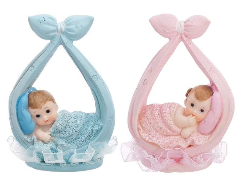 Figurine Baby Boy bleu dans un foulard