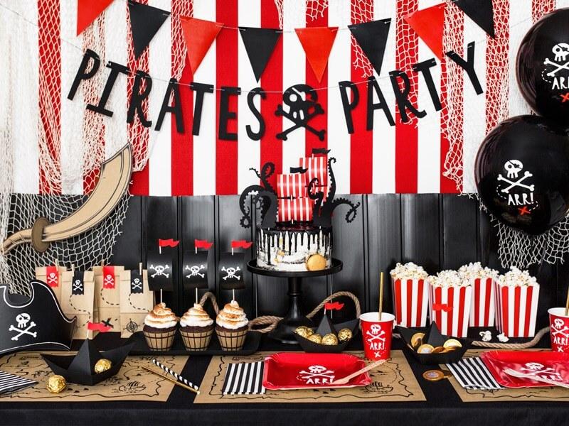 Assiettes en papier Pirate Party (Lot de 6)