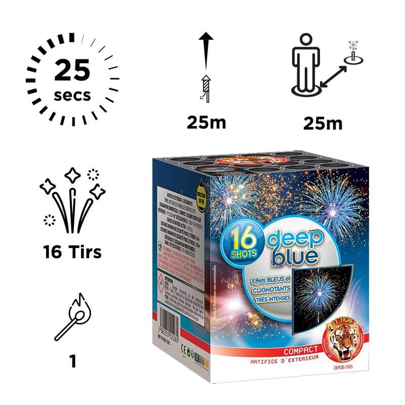Feu d'Artifice DEEP BLUE Gender Reveal Boy