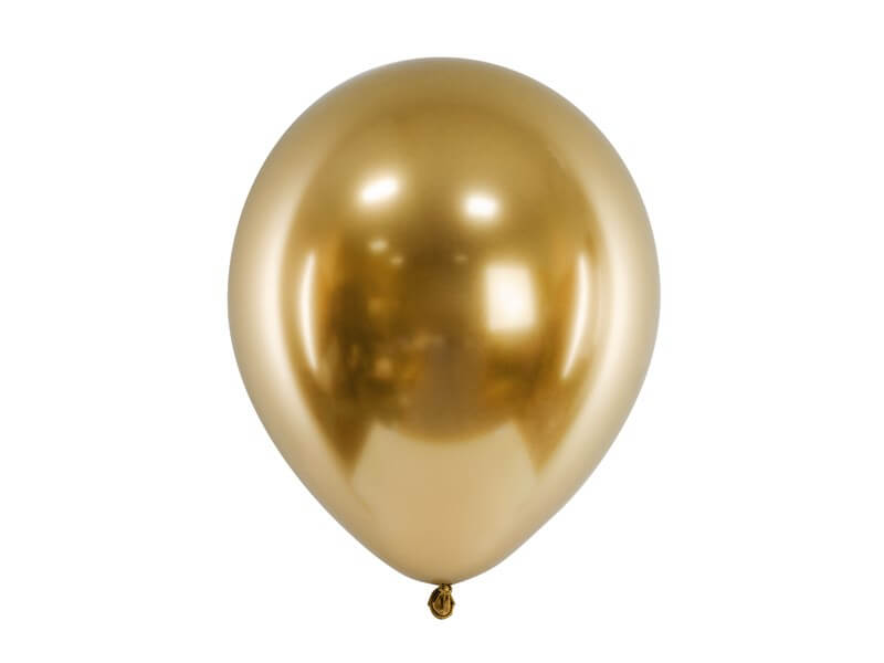 50 Ballons métalliques brillants Or