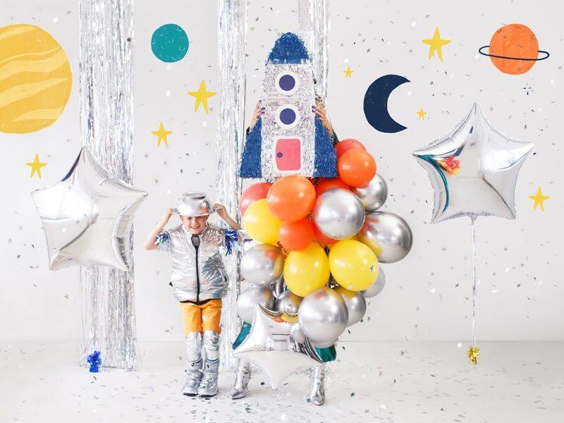 50 Ballons Métalliques Brillants Argent