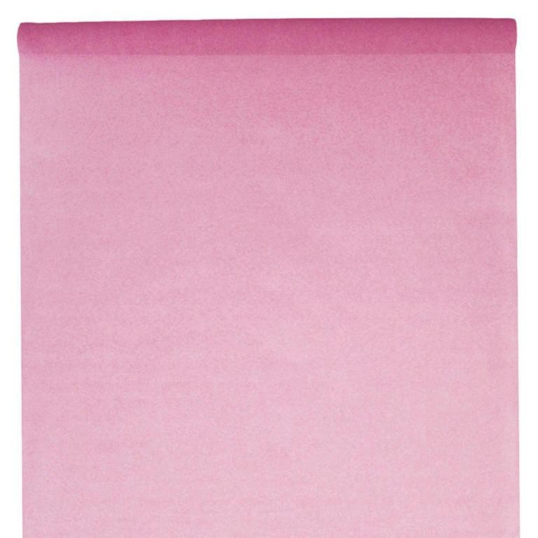 Nappe en rouleau intissée rose 10 mètres
