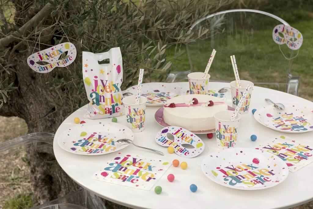 Gobelet Joyeux Anniversaire Multicolore (lot de 10)