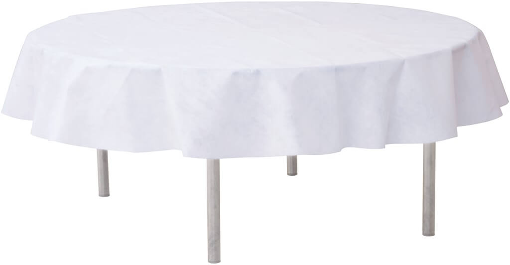 Nappe ronde intissée blanche ø180cm