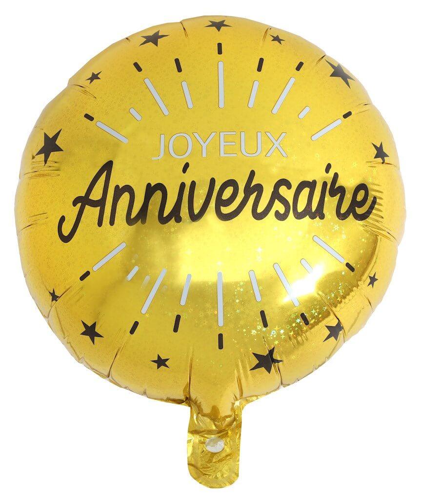 Ballon Joyeux Anniversaire Or ø45cm