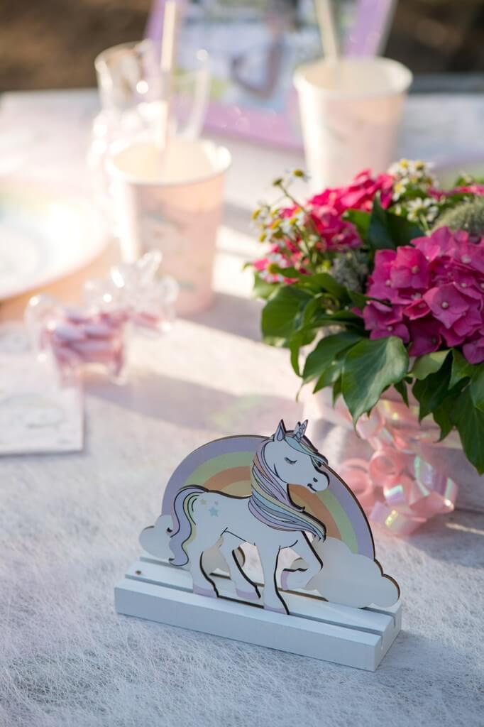Centre de Table Licorne Rose
