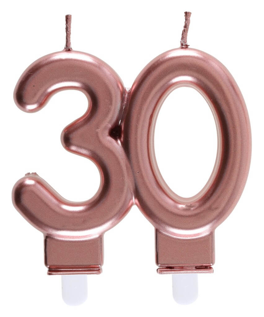 Bougie 30 ans Or rose