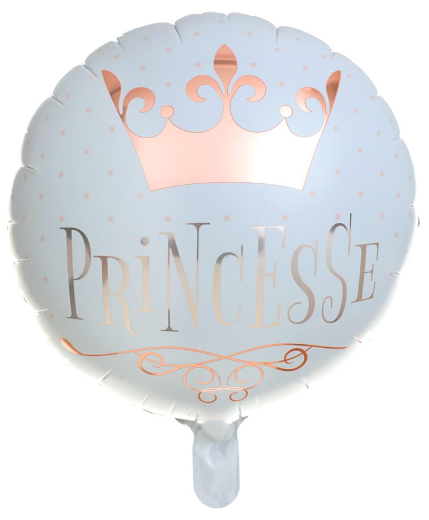 Ballon Princesse Or Rose ø 45cm