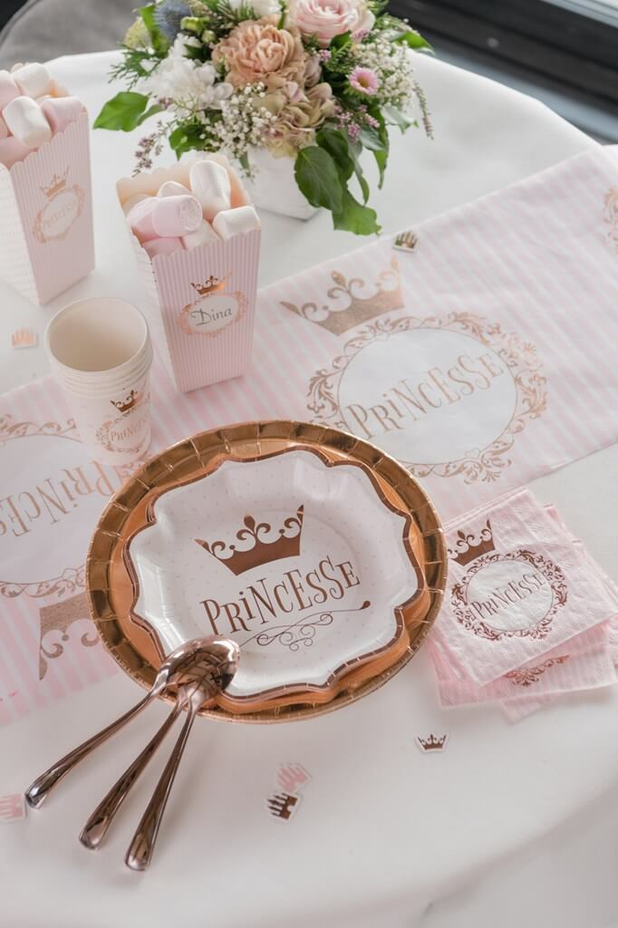 Gobelet Princesse Or Rose (lot de 10)