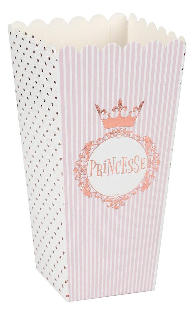 Cornet en papier Princesse Or Rose (lot de 8)