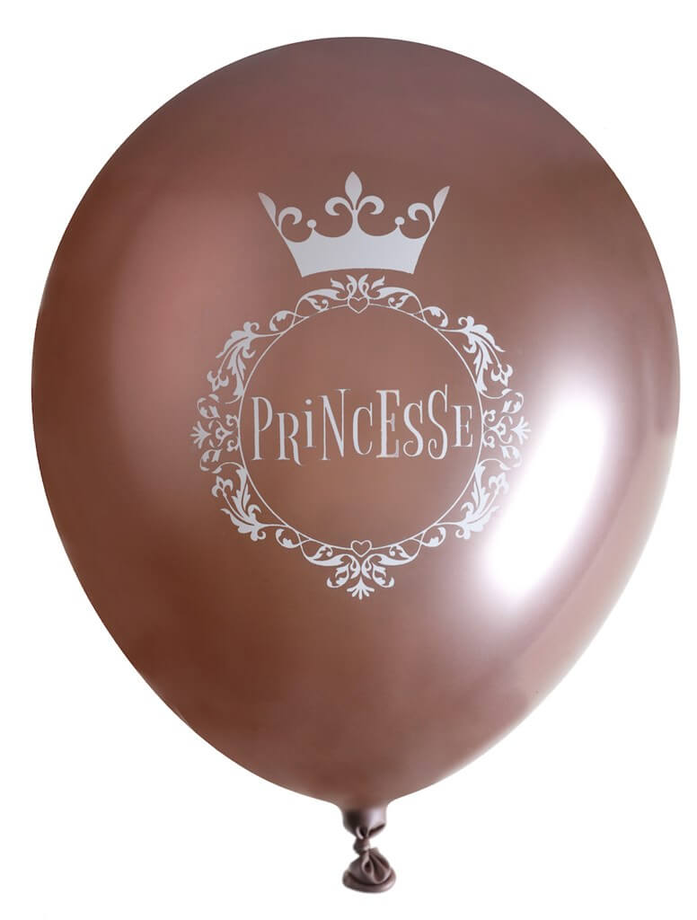 Ballon Princesse Or Rose ø 30cm (lot de 6)