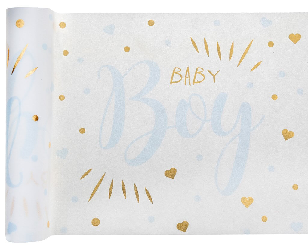 Chemin de table Baby Shower Boy Bleu 3 mètres