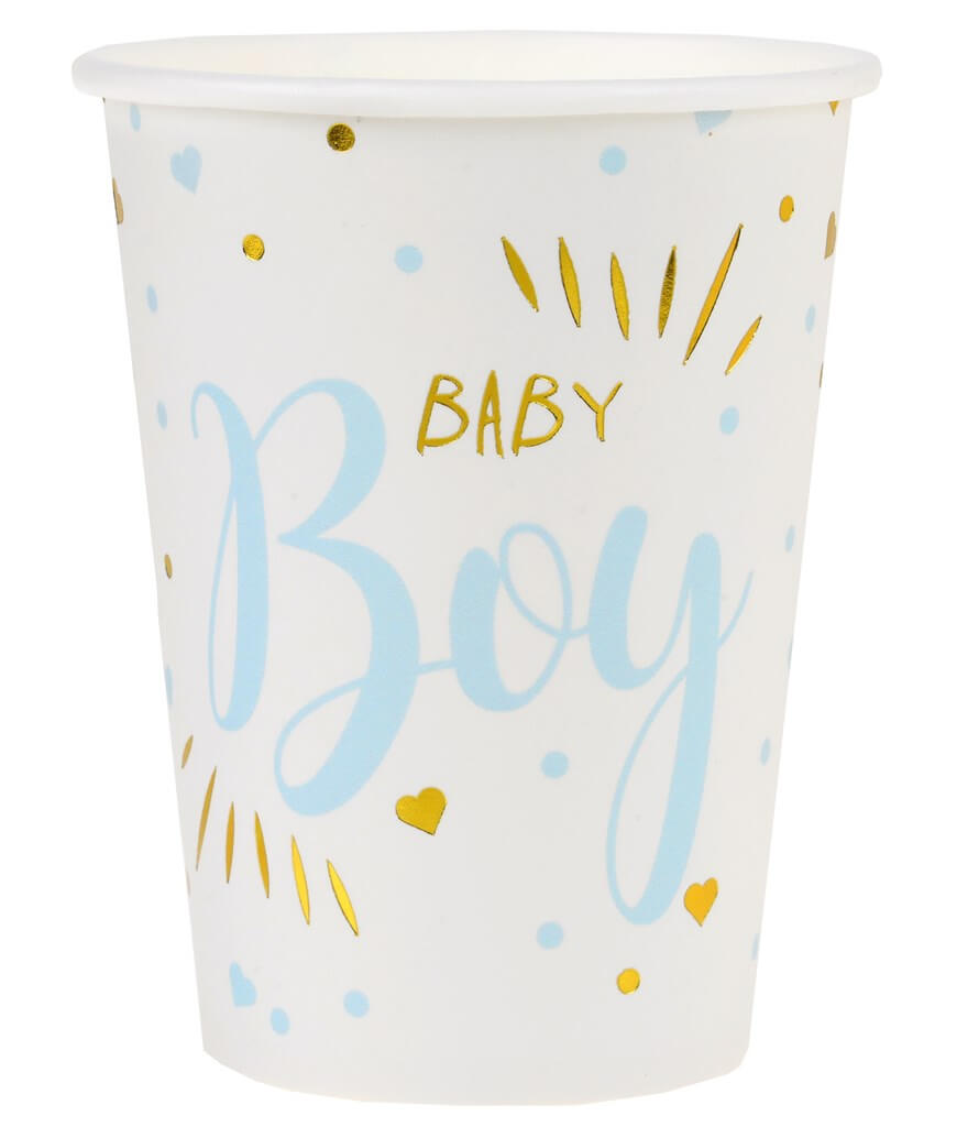 Gobelet Baby Shower Boy Bleu (lot de 10)