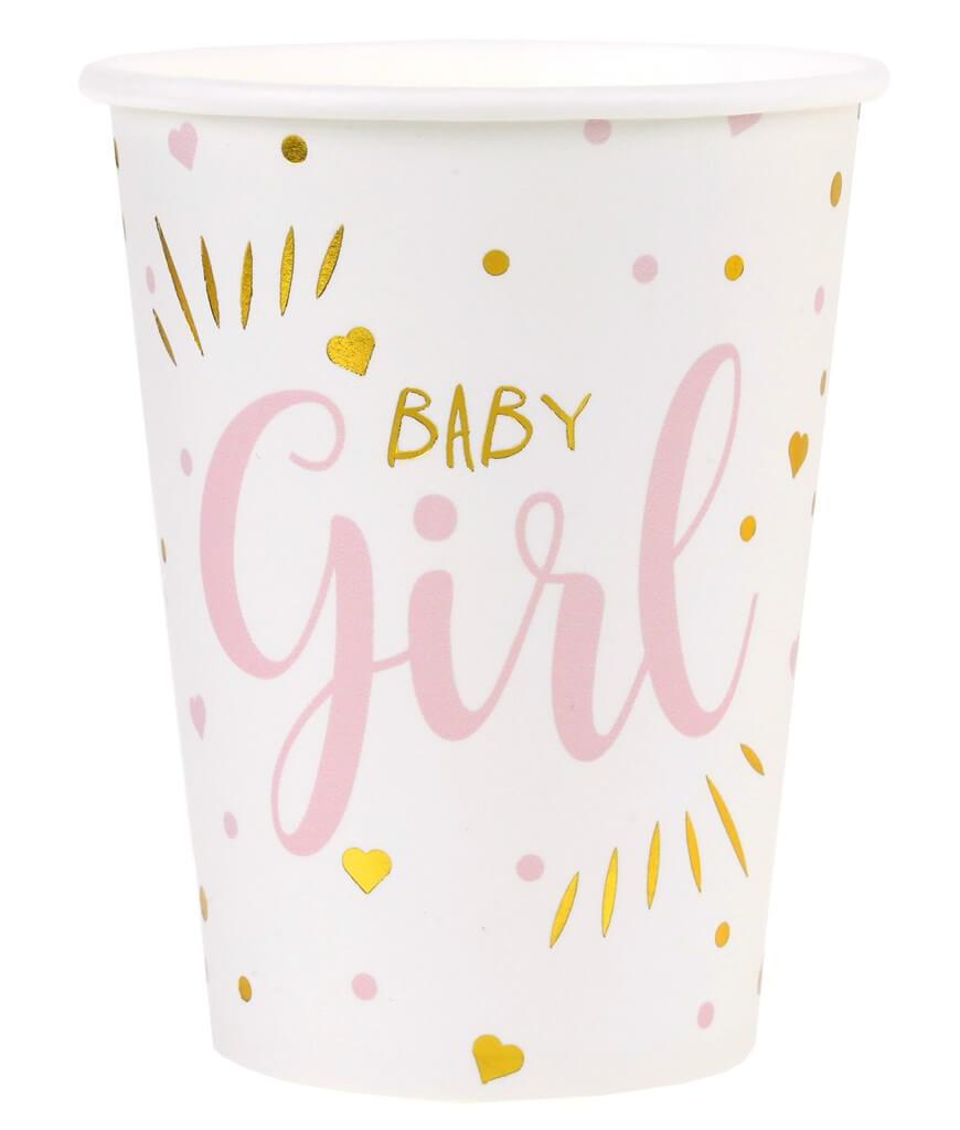 Gobelet Baby Shower Girl Rose (lot de 10)