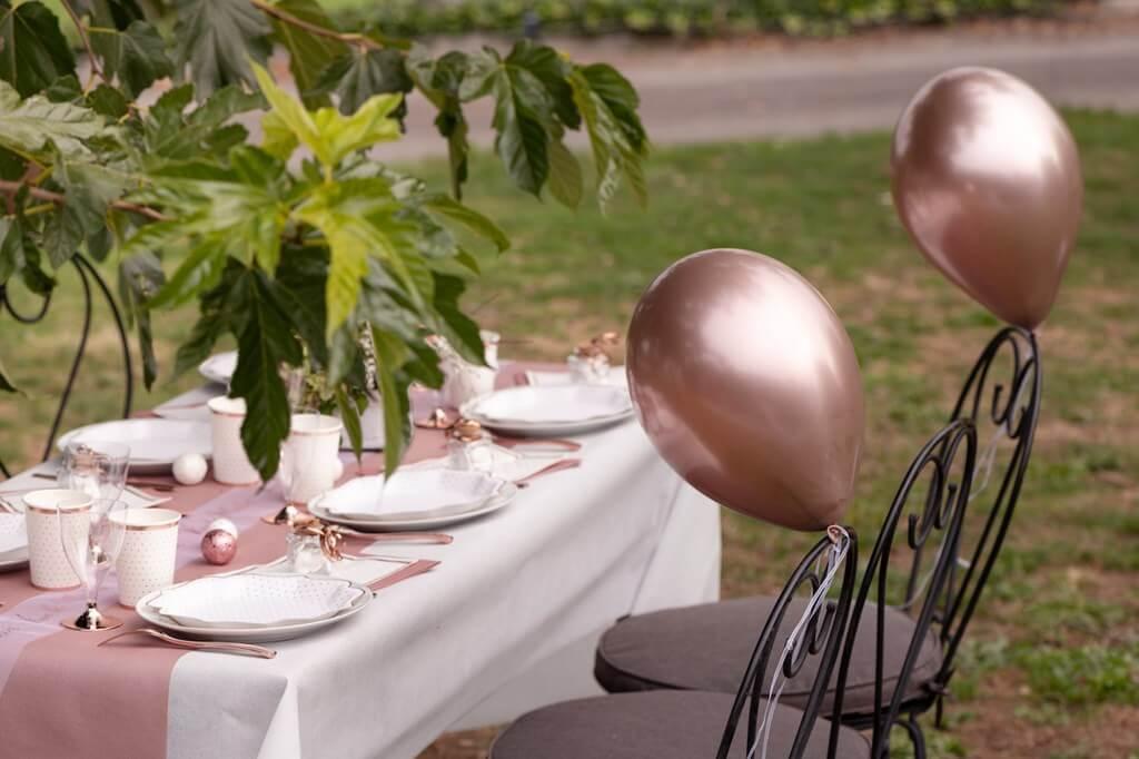 Ballon de Baudruche Métallisé Or Rose (Lot de 6)