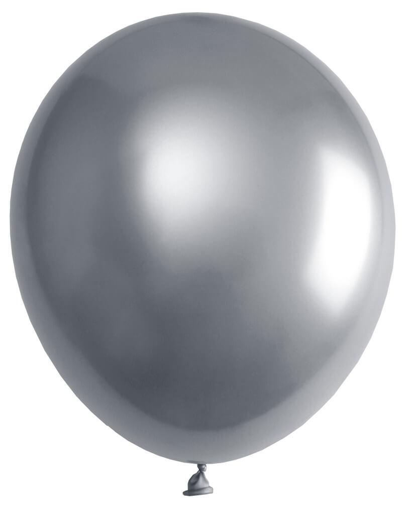 Ballon de Baudruche Métallisé Argent (Lot de 6)