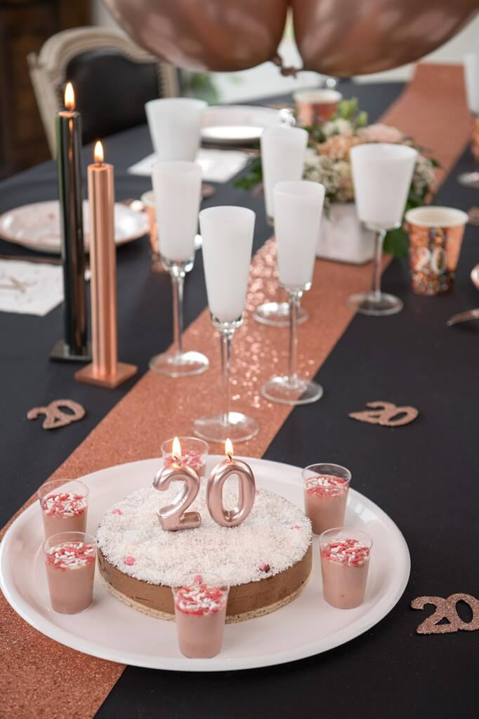 Bougie Anniversaire Chiffre 2 Or rose