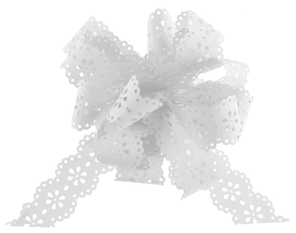 Noeud Automatique Fleur Blanc (lot de 5)