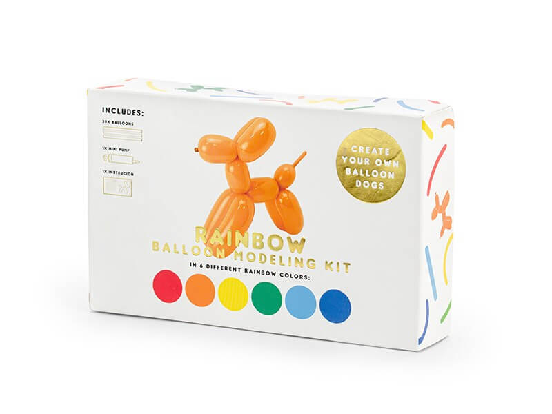 Lot de 30 Ballons Pastel à modeler + Pompe