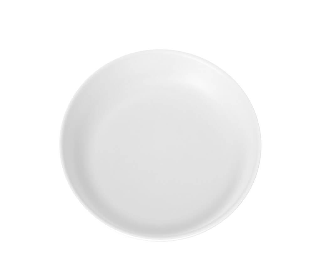 Assiette Plate Incassable blanche ø 21cm (Lot de 6)