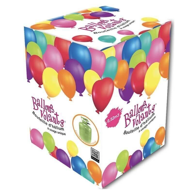 Bouteille Hélium Jetable 0,52m3 pour 62 ballons