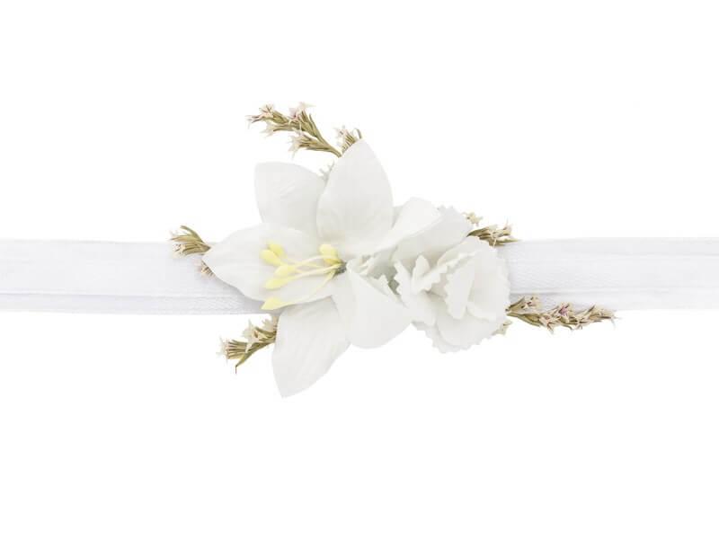 Corsage poignet de fleurs blanches