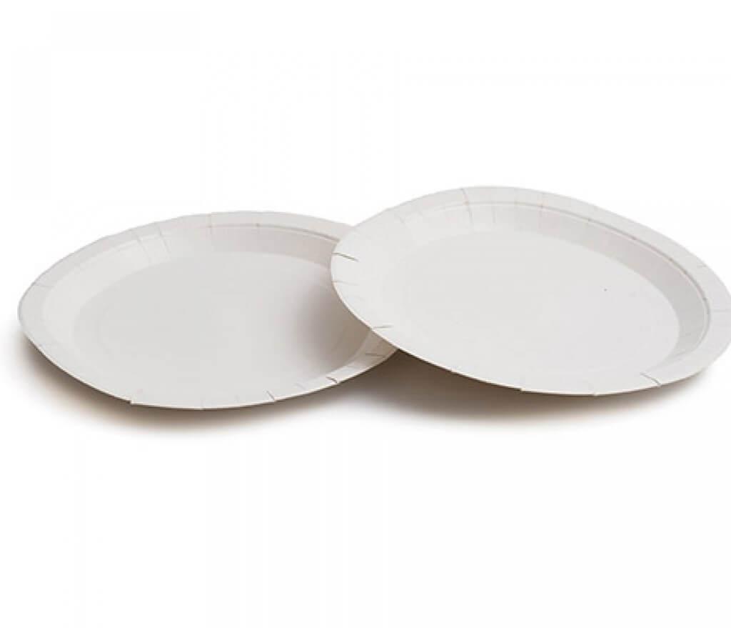 Assiette Carton Blanche ø 23cm (Lot de 50)