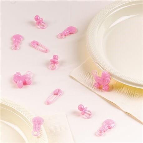 Confettis de Table Baby Shower Fille (Lot de 25)