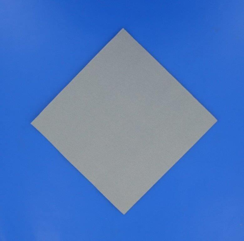 Serviette Point à Point 38x38cm Gris Argent (Lot de 40)