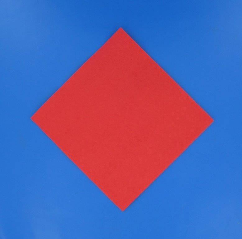 Serviette Point à Point 38x38cm Rouge (Lot de 40)