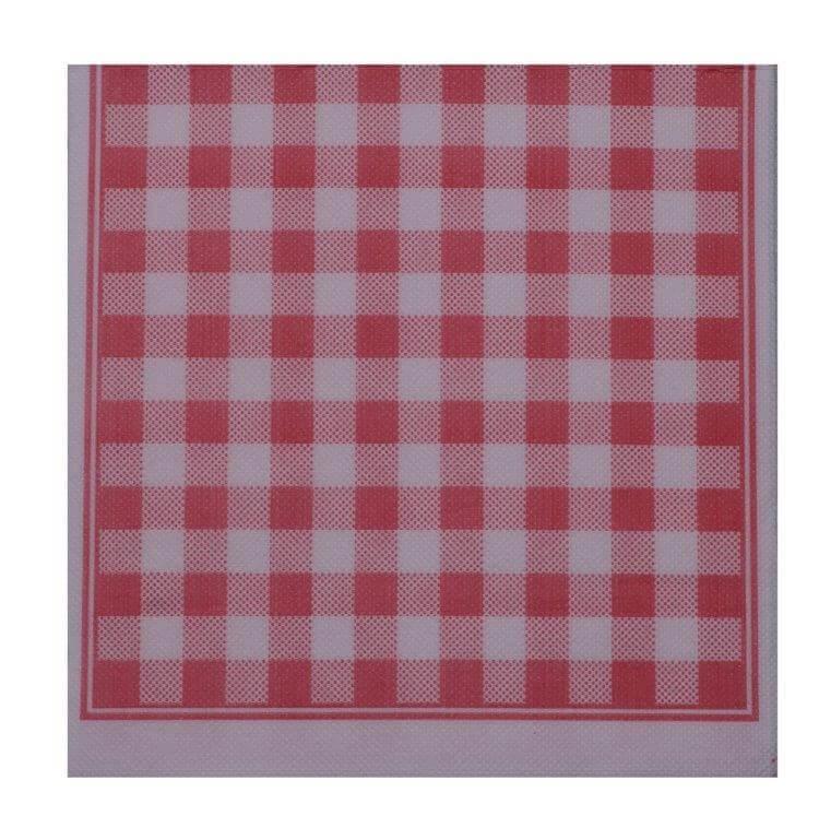 Serviette Sun Ouate 2 plis (38x38cm) Vichy Rouge (Lot de 40)