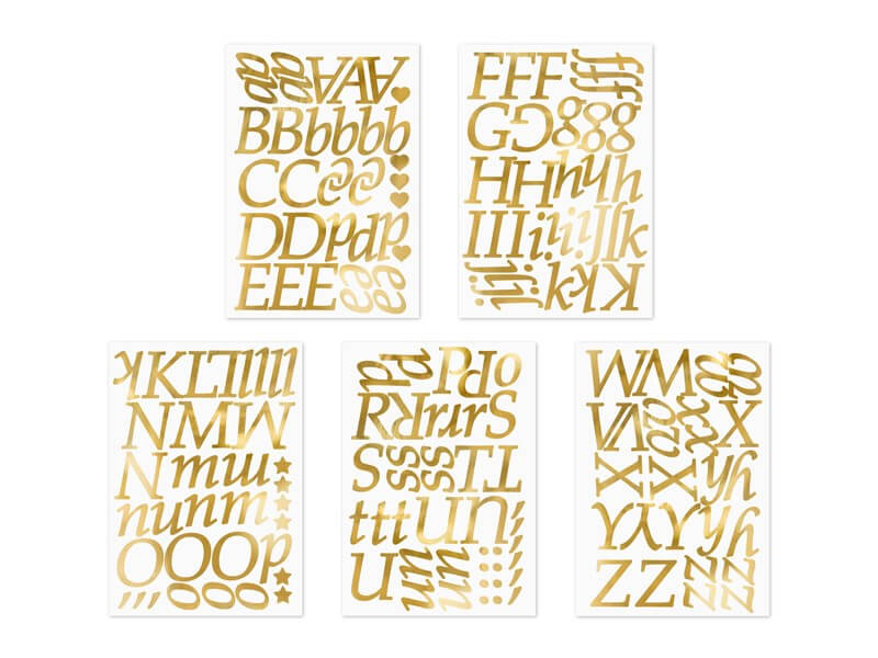 LETTRES STICKERS GOLD