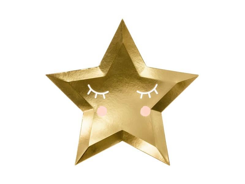 """Assiette """"Little Star"""" Gold (lot de 6)"""