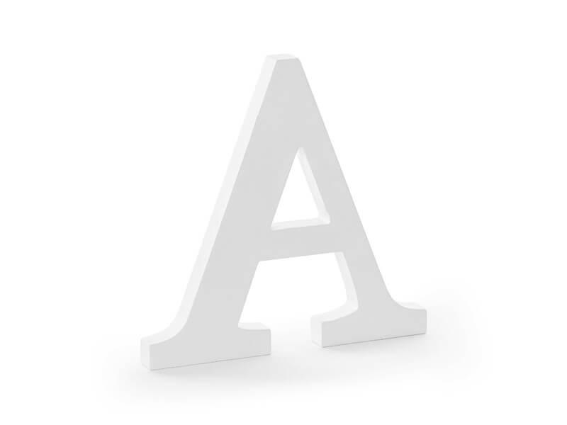 Lettre A en Bois Blanc