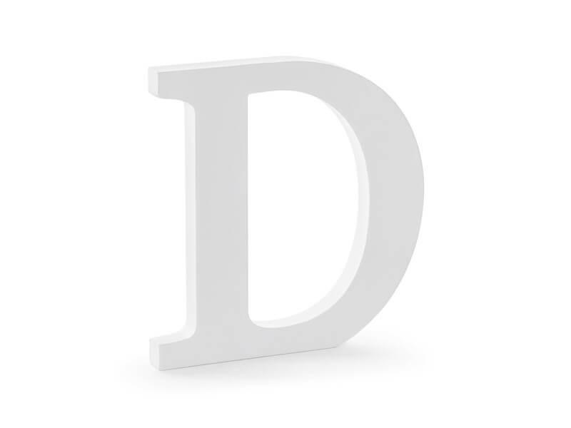 Lettre D en Bois Blanc