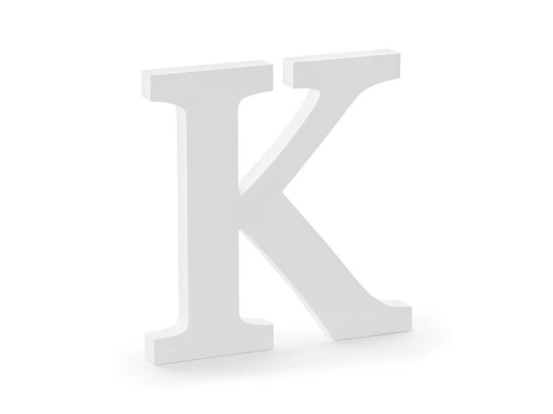Lettre K en Bois Blanc