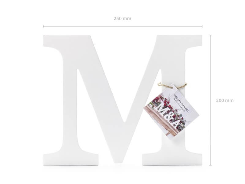 Lettre M en Bois Blanc