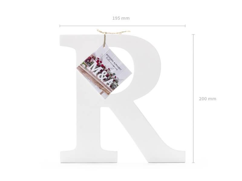 Lettre R en Bois Blanc