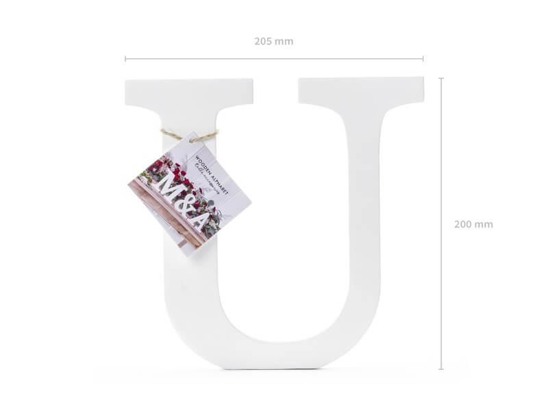 Lettre U en Bois Blanc