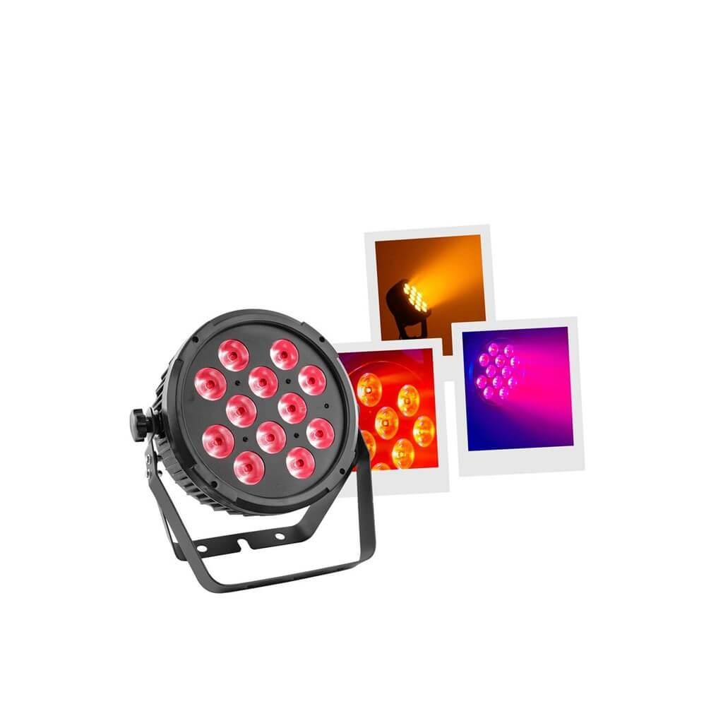 MACHINE À LED - FLAT PAR 12X12W 6IN1 - MAC MAH