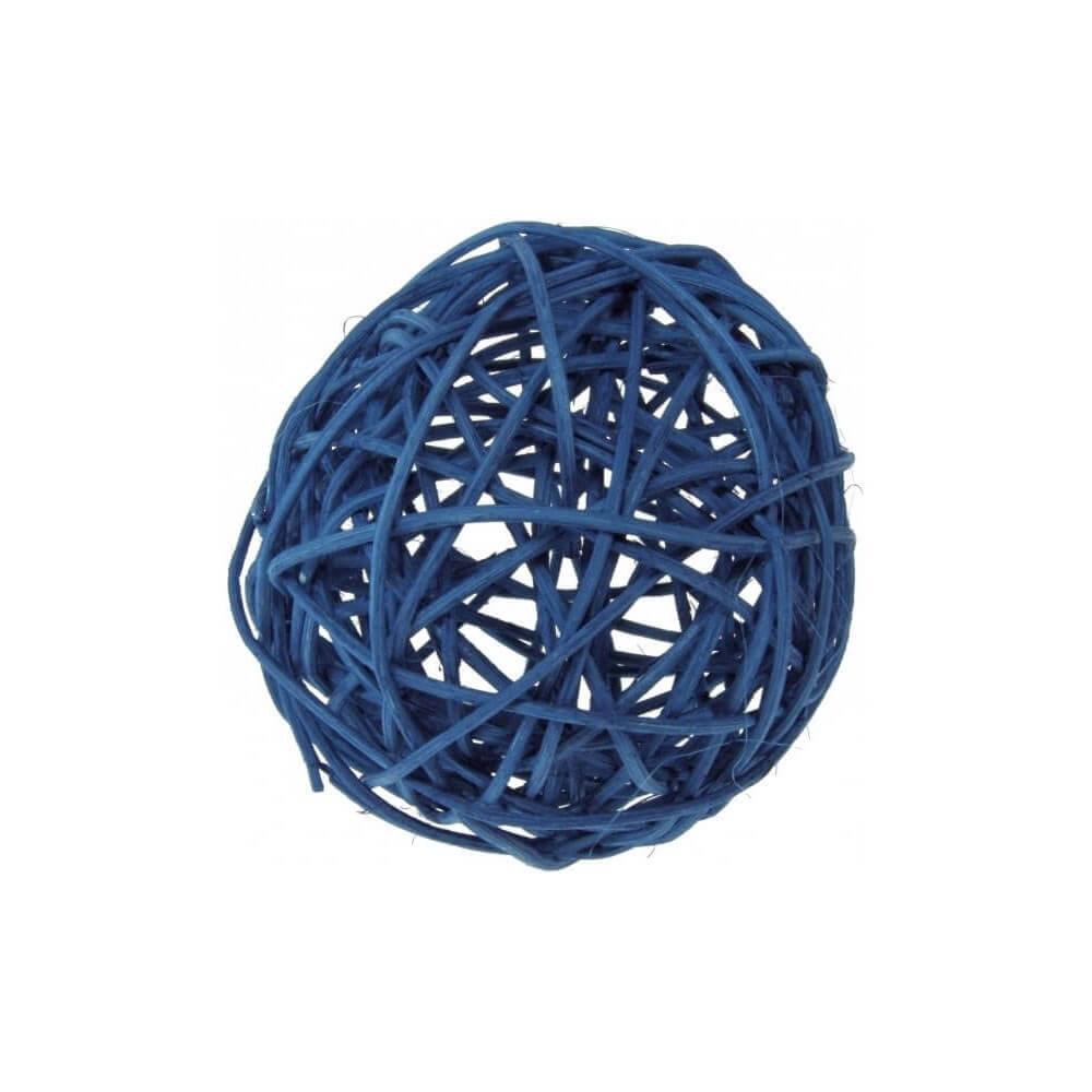 Assortiment de boules ROTIN Turquoise -10 pièces / 3 tailles