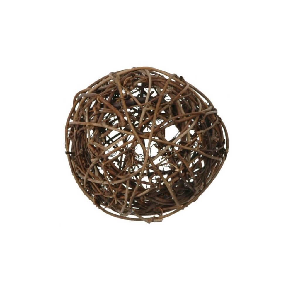 Assortiment de boules en ROTIN Chocolat-10pièces / 3 tailles