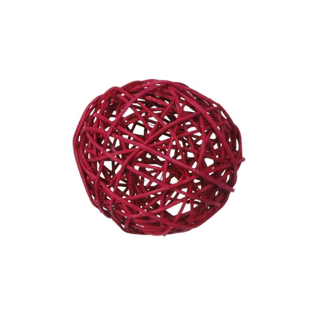 Assortiment de boules ROTIN Bordeaux - 10 pièces / 3 tailles